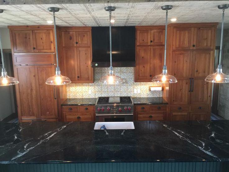 This Black Soapstone Kitchen Island Countertop Was Book
