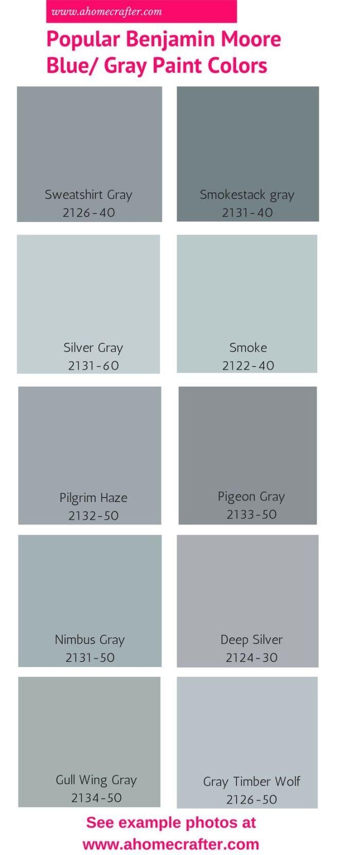Por Benjamin Moore Blue Gray Paint Colors