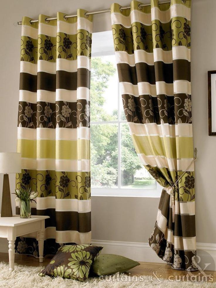 Jasmine Chocolate Brown Taffeta Eyelet Curtain Curtains