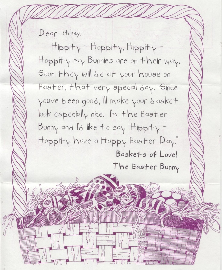 10 Best Images About Easter Bunny Letters On Pinterest