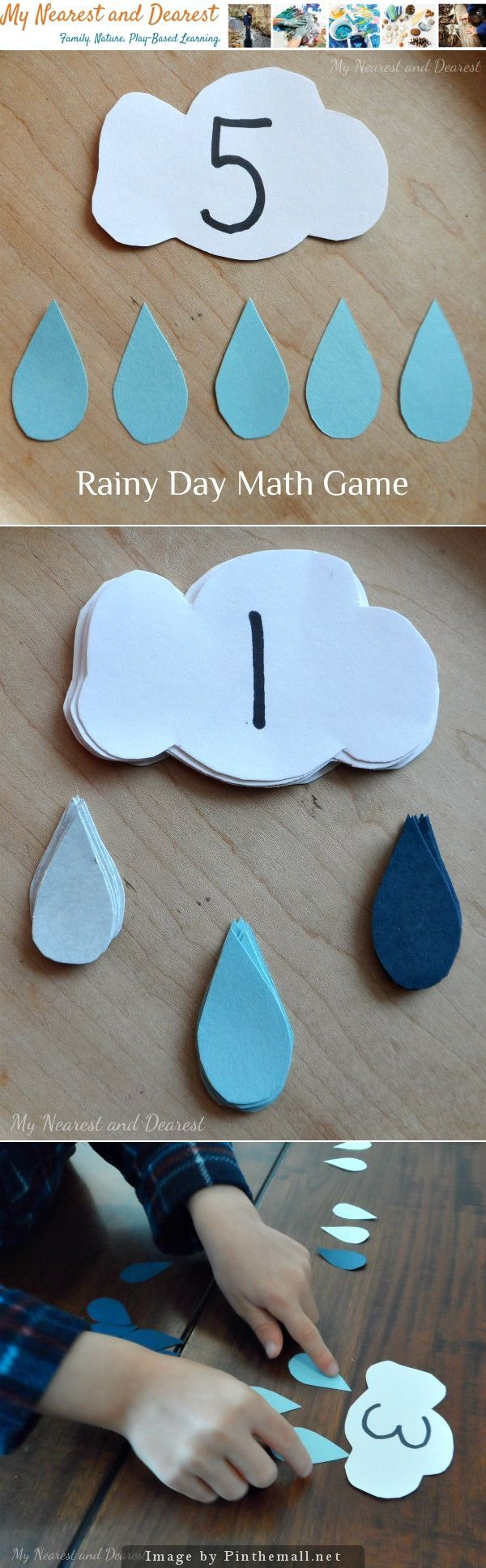 Rainy Day Math Games – This easy-to-make math game is inspired by a rainy day…and perfect for playing on a rainy day! It's a