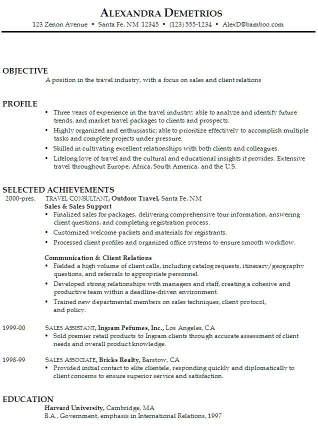 Sales Associate Resume Objective Statement 989 http