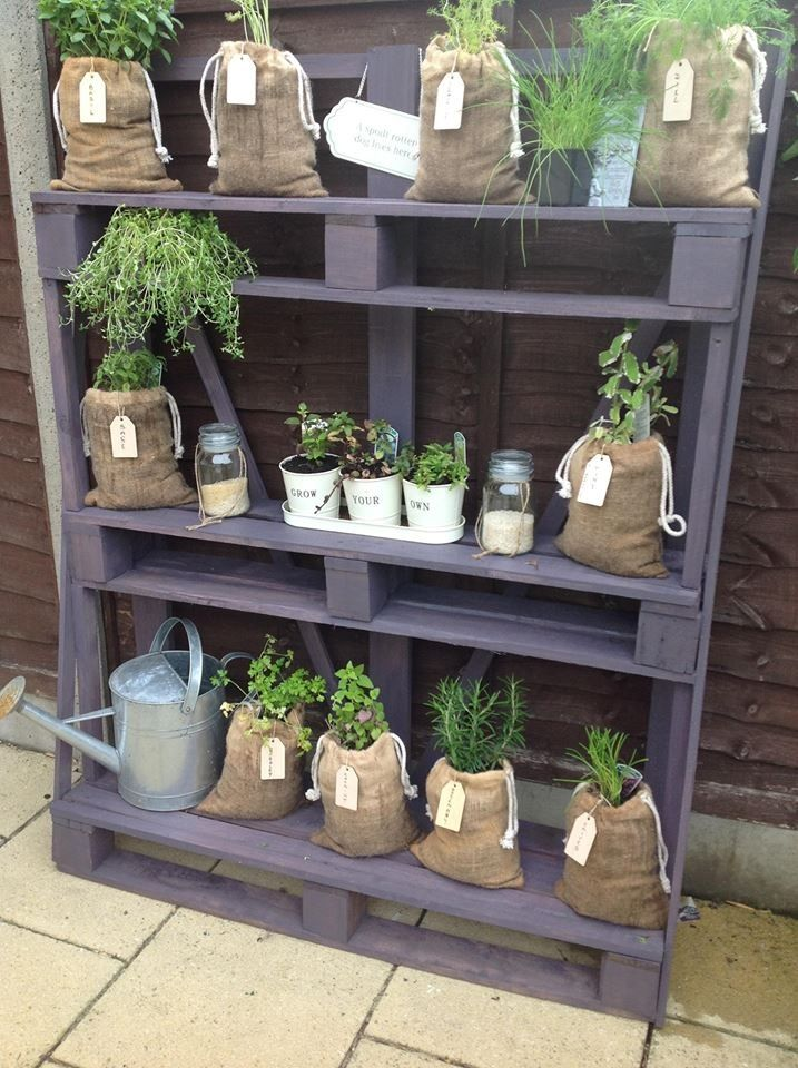 Garden shelves from pallets Recycled Pallets Ideas
