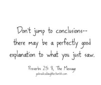 Image result for jumping into conclusion