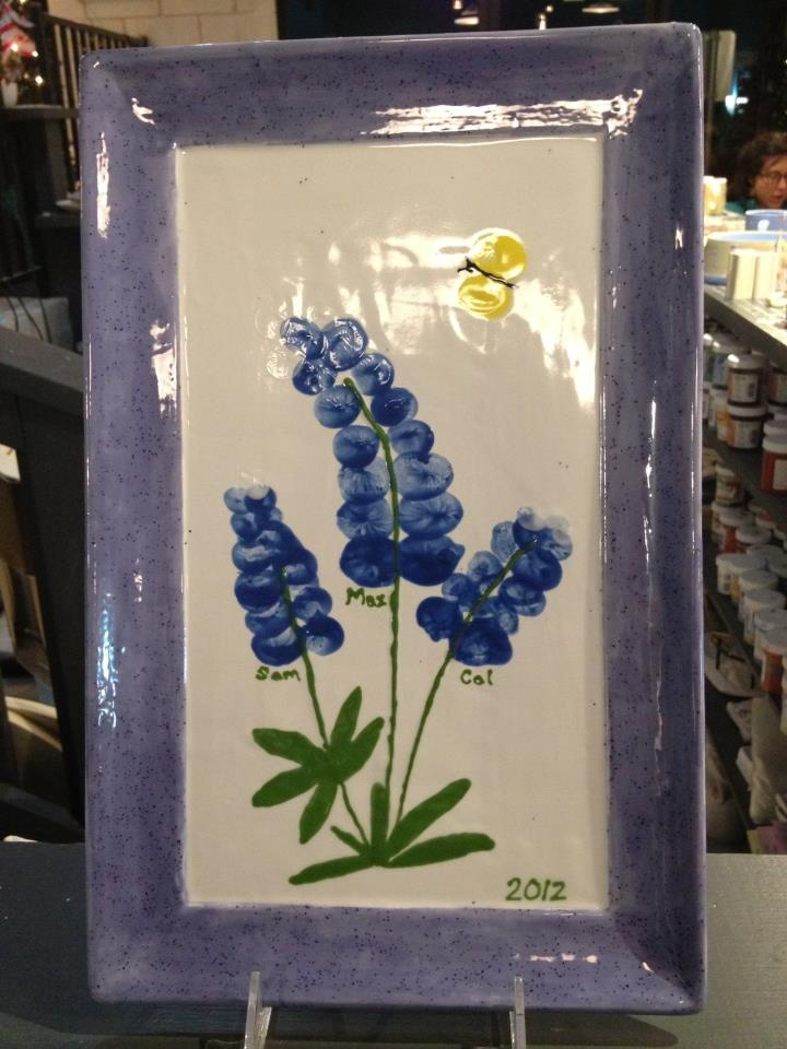 A Beautiful Bluebonnet Tray Made By Three Sweet Little
