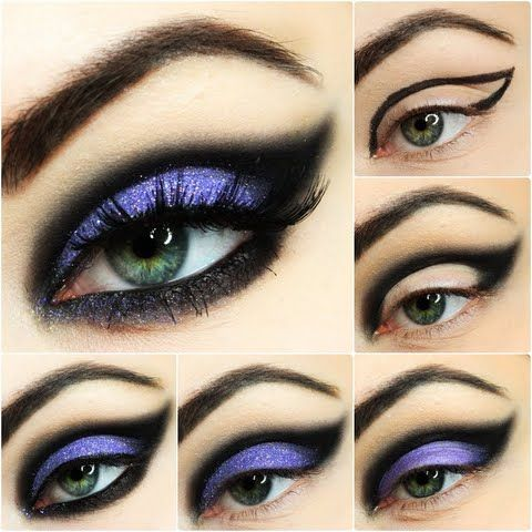Ewelina shows us easy breezy ways to create the perfect night out look! Smear on some purple and black hues to highlight your