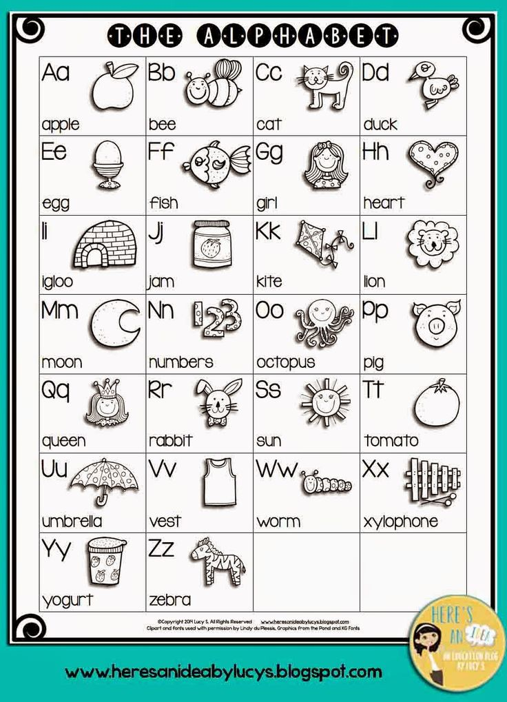 Word work activities Beginning sounds poster. FREE