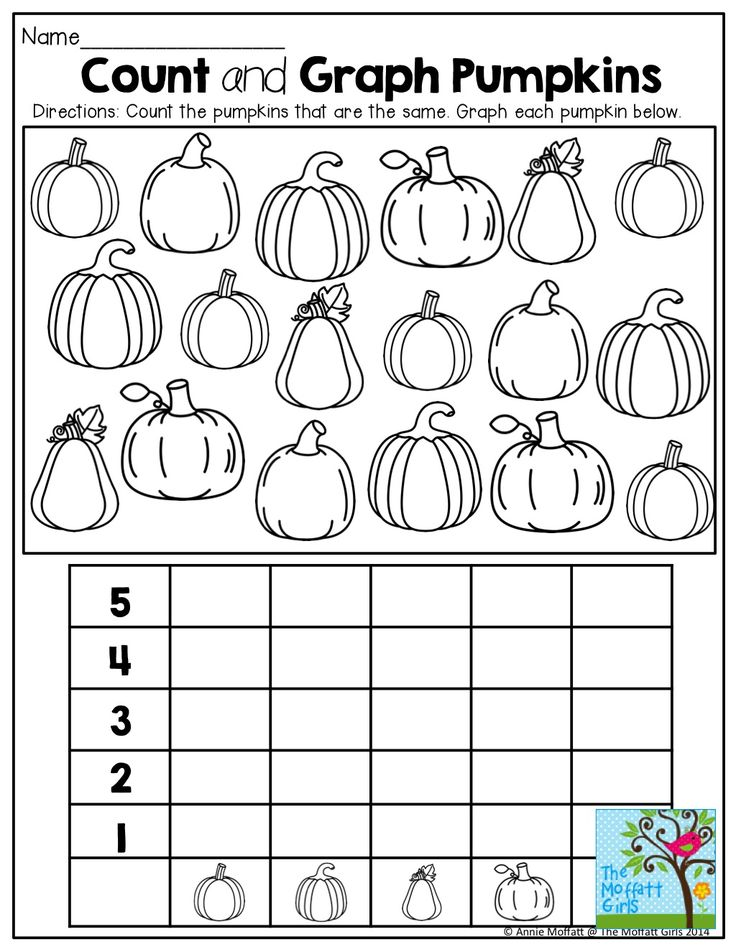 Graphing different pumpkins and TONS of other fun fall