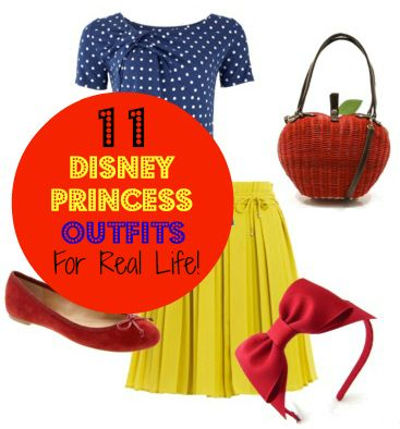 Dress Like a Disney Princess: 11 Princess Inspired Outfits — Im not a Disney girl, but these outfits were pretty clever. –