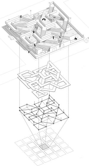 78 Best images about Exploded axonometric architectural drawing on Pinterest | Concept diagram