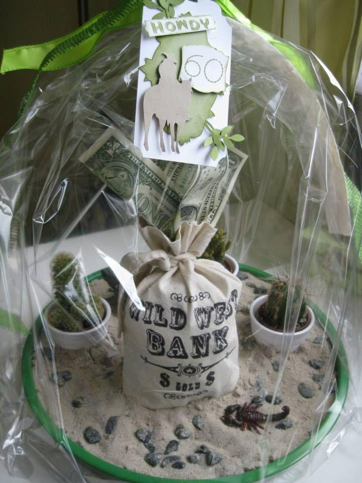 Money Present Birthday Western Geburtstagsgeschenk