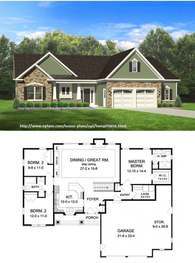 Eplans Ranch House Plan 1598 Square Feet And 3 Bedrooms 2 Baths Code Cost To Build