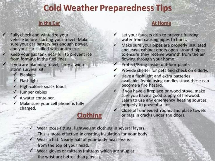 Here is everything you need to know to survive the cold