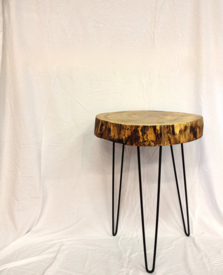 Slab Side Table / Night Stand with Hairpin Legs. to make