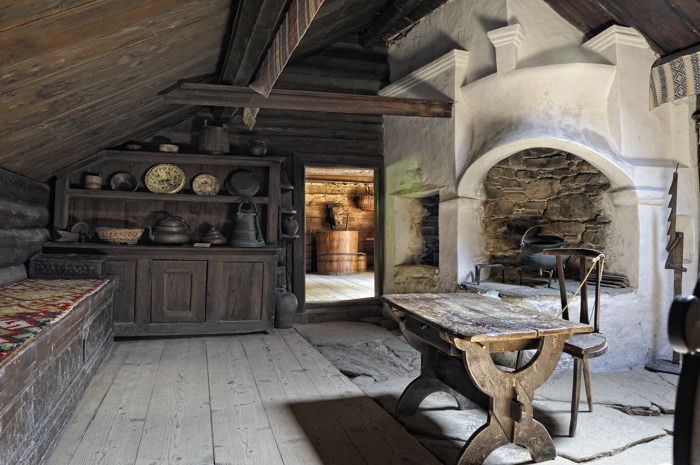 Interior Of An Old Swedish Cottage