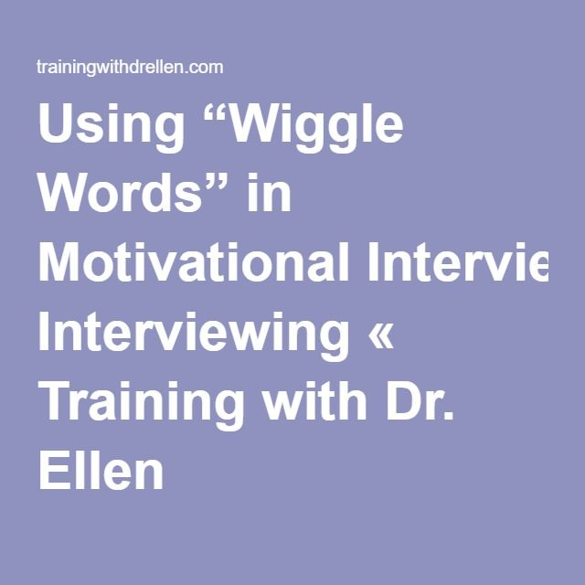 36 Best Images About Motivational Interviewing On