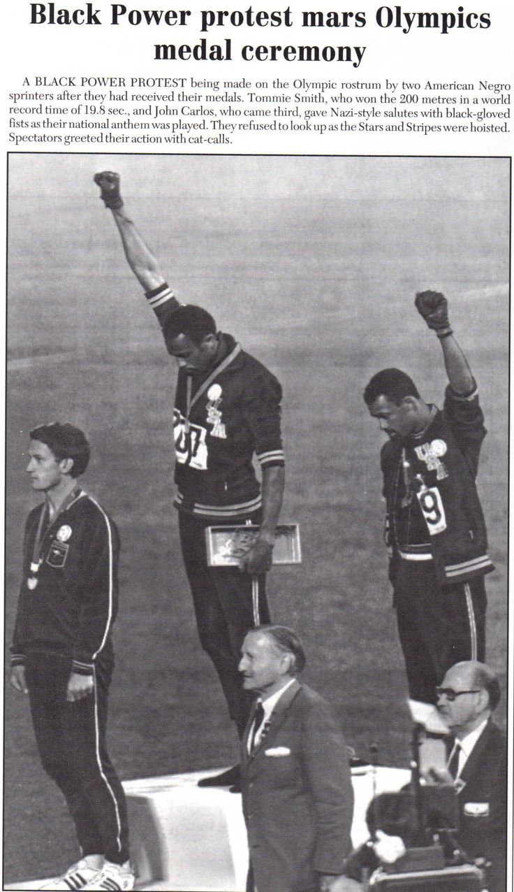 Black Power 1968 Year I was born and growing up