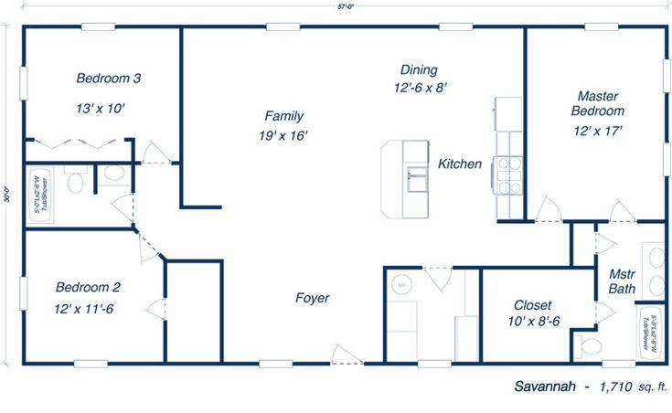 Savannah Steel Home Kit Plan