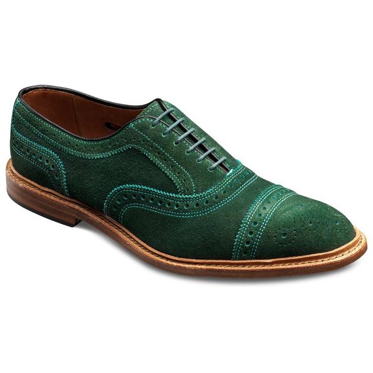 Special Edition WebGem Green Suede Strand Captoe Lace
