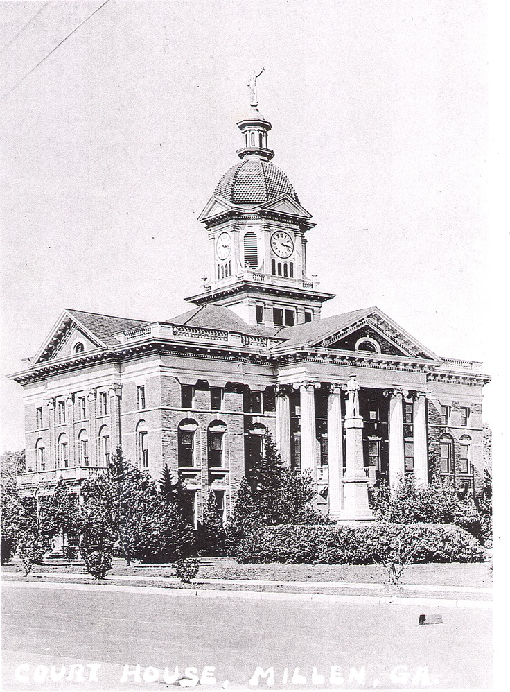 Jenkins County Courthouse, Millen, Ga. Historic