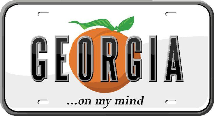 State license plate atlanta on my mind