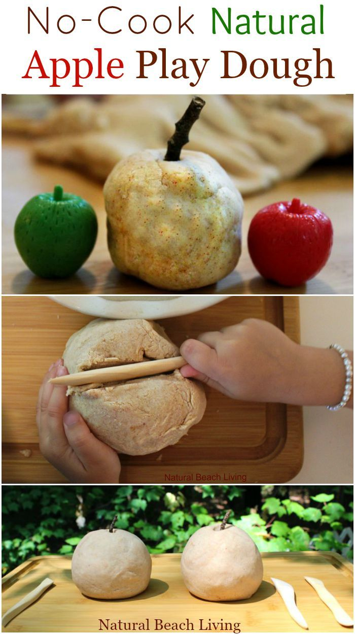 Natural Apple Scented No Cook Play Dough Homemade