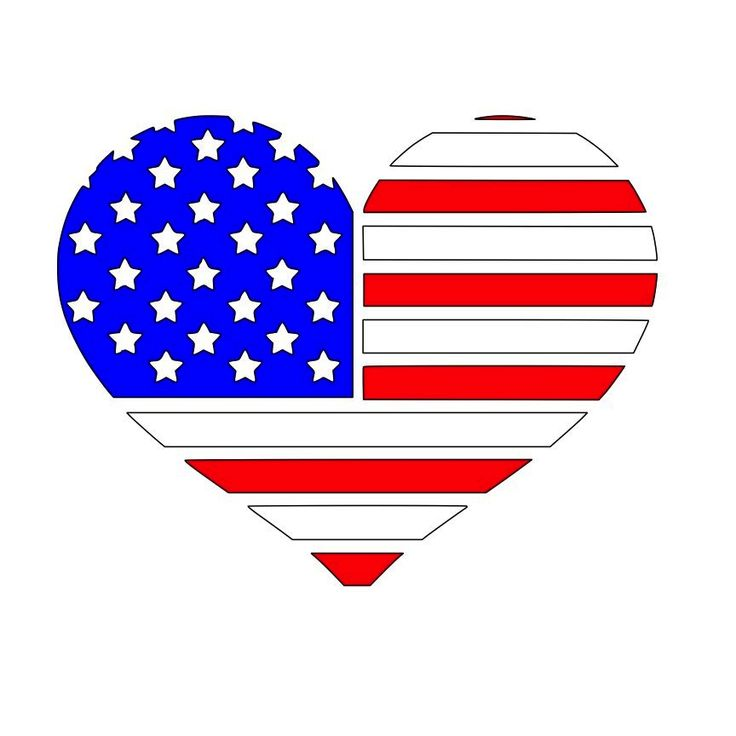 Download Heart American Flag SVG File Download | Cricut images for ...