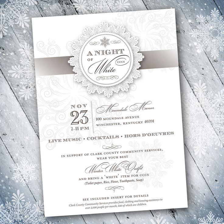 Vintage winter theme formal invitation design designs by