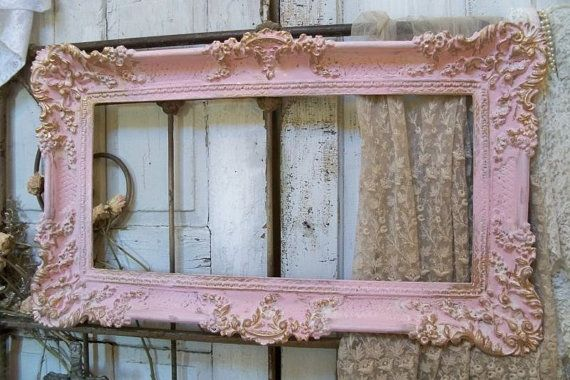 Shabby Chic Pink, Vintage Frames And Pink And Gold On