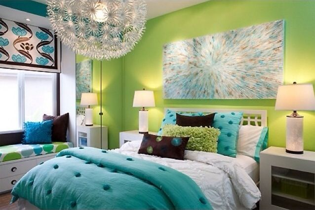 Lime Green And Turquoise Bedroom Teen Girls Bedroom Ideas