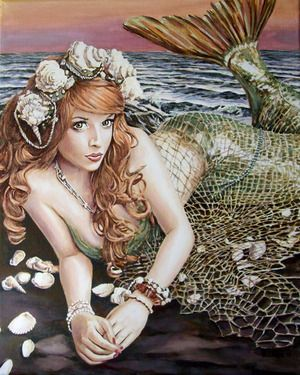 "Saatchi Online Artist Andy Lloyd; Painting, ""Turn Loose the Mermaid"" #art"
