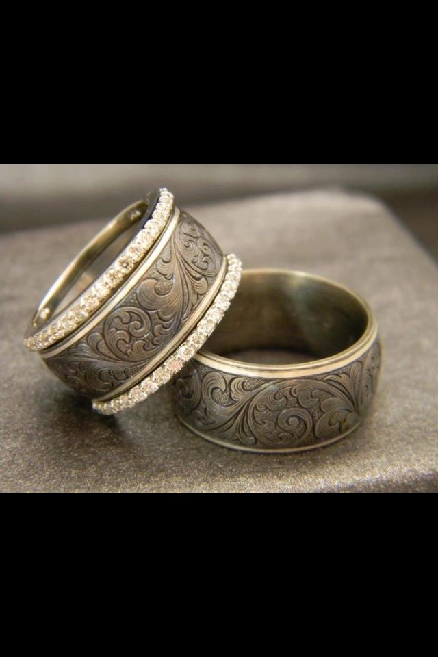 17 Best Images About Western Style Wedding Rings On