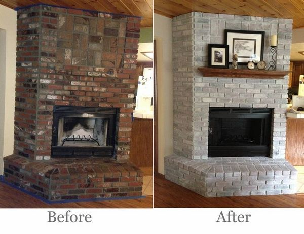 Sketches Brown Brick Fireplaces