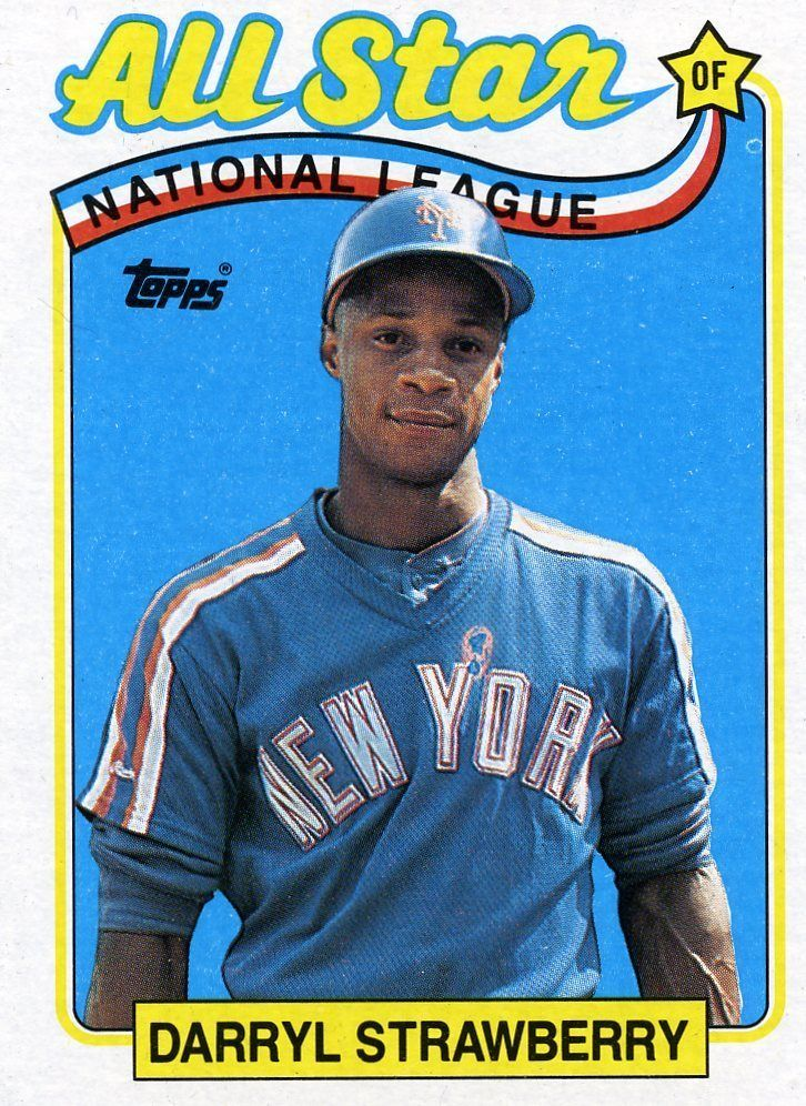 RARE 1989 TOPPS ALL STAR DARRYL STRAWBERRY NEW YORK METS