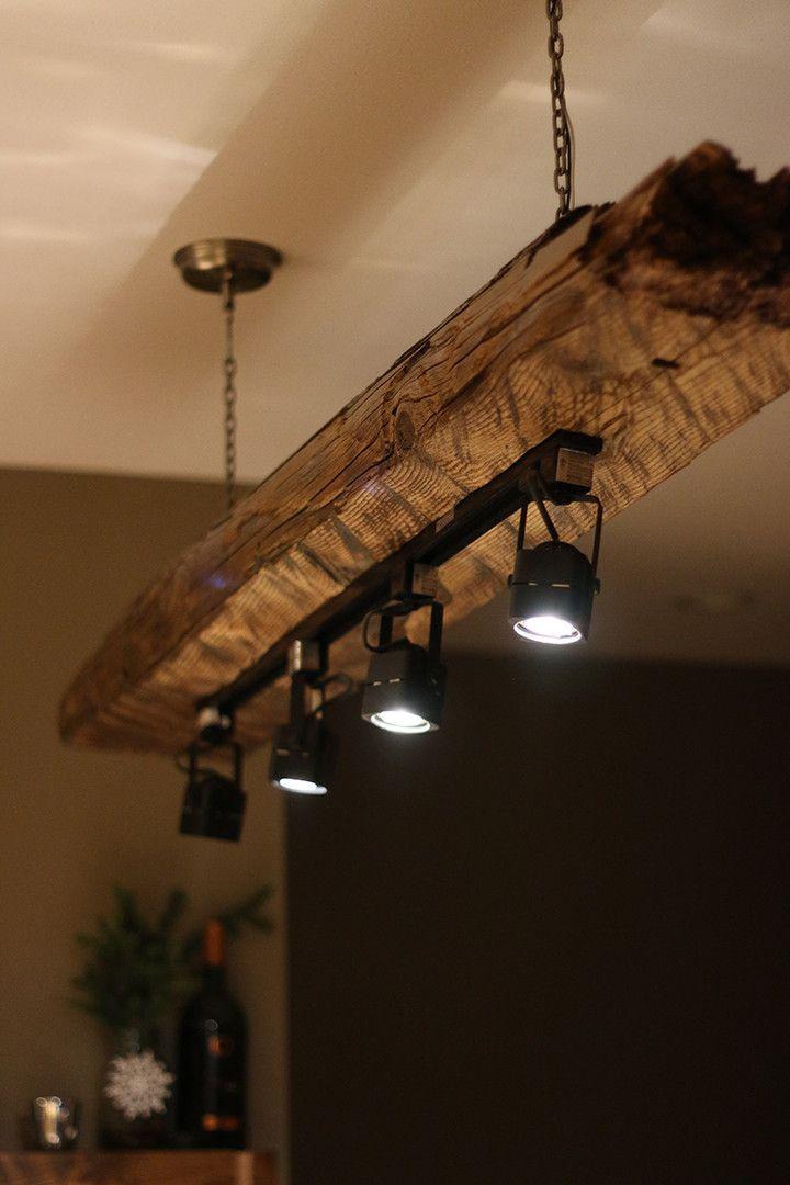 Mountain haus wood beam light fixture imgur home