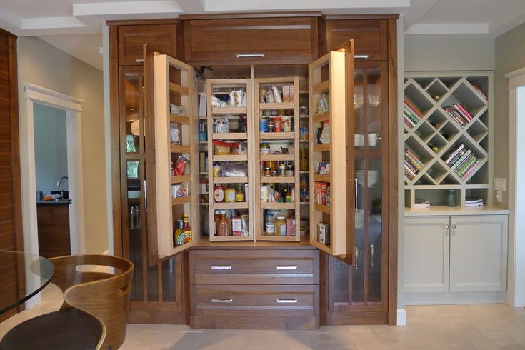 Built In China Cabinet/ Food Pantry