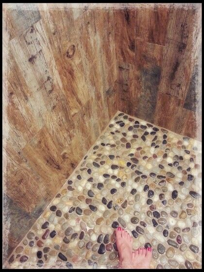 Only Best 25 Ideas About River Rock Shower On Pinterest