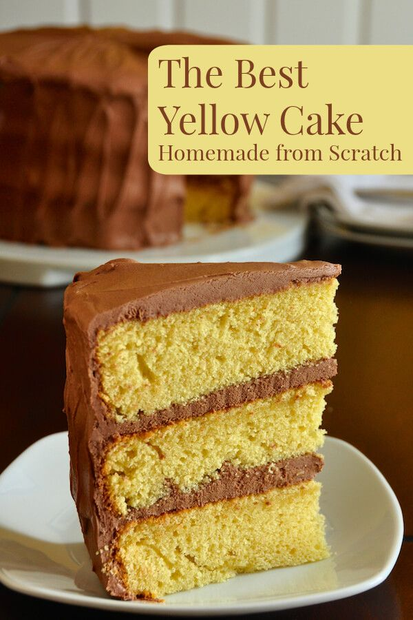 The Best Yellow Cake Recipe, Homemade from Scratch – a moist, delicious, beautifully textured cake, paired in a classic