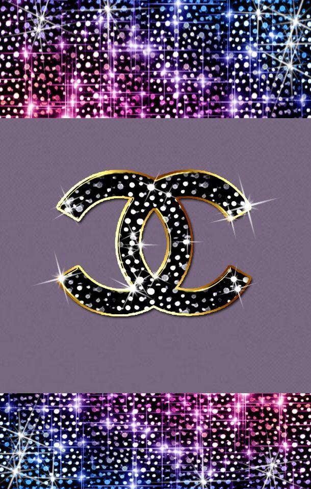 Glitter Chanel Wallpaper. WALLPAPERS Pinterest