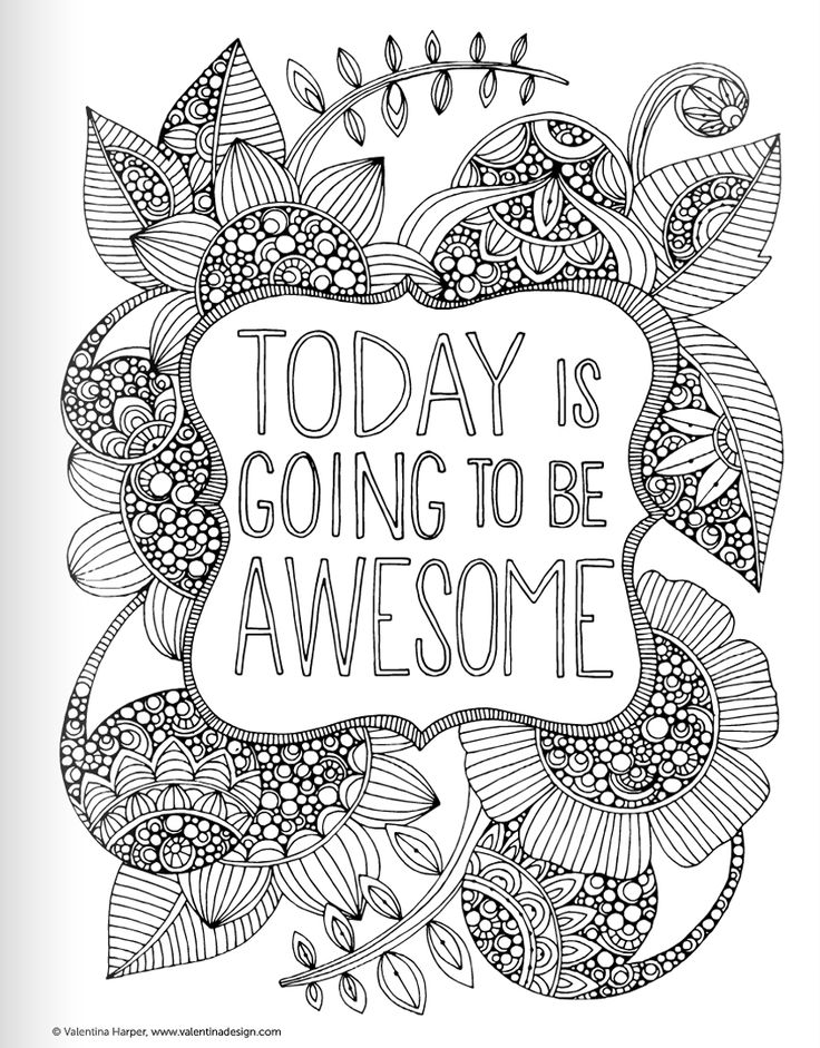 Inspirational Quotes Coloring Book for Adults ... | free printable coloring pages for adults inspirational quotes