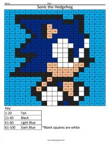 Sonic The Hedgehog Nintendo Multiplication And Division