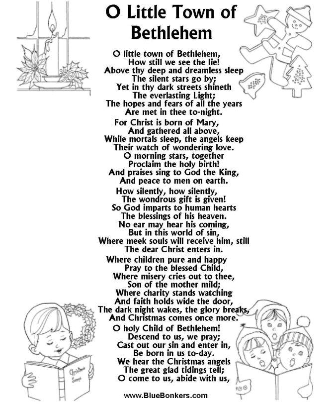 Image detail for Christmas Carol Lyrics Sheets
