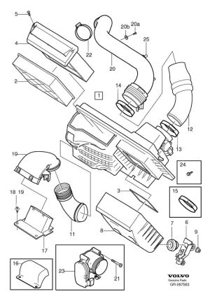 2005 Volvo S40 T5 Engine Parts Diagram | Projects to Try