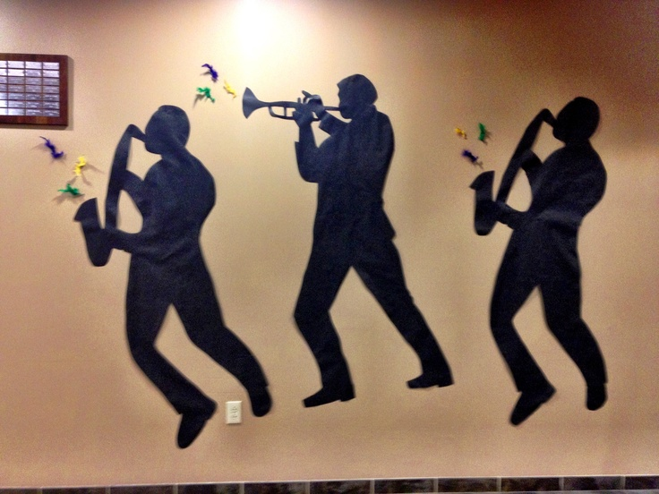 Jazz Player Silhouettes Mardi Gras Auction Pinterest Jazz And Silhouette