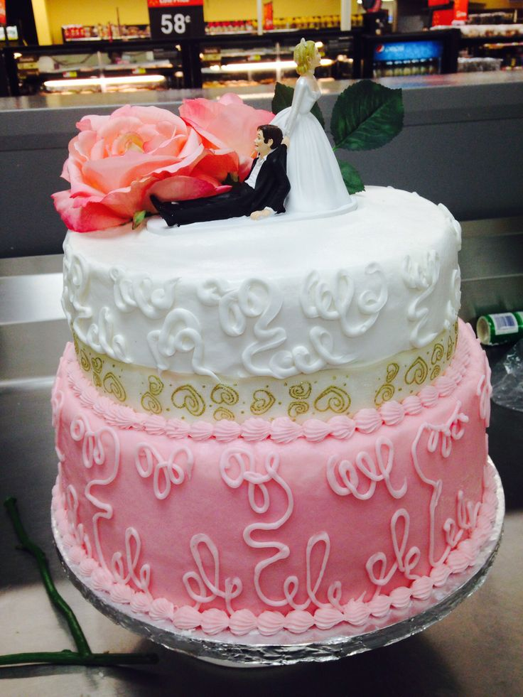 Two tier wedding cake. Walmart Lizzy's cake Pinterest