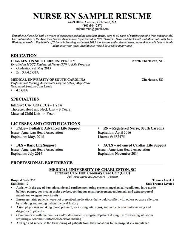 Resume For Nursing School Application Sample. Imagerackus