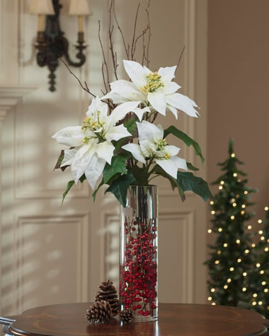 Decorating With Cylinder Vases And Poinsettias Google