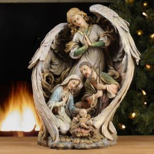 Holy Family Guardian Angels And Statue On Pinterest