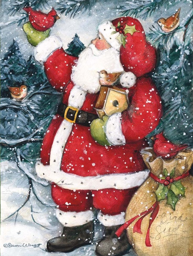 Susan Winget Snowy Santa Christmas Cards 906x1200