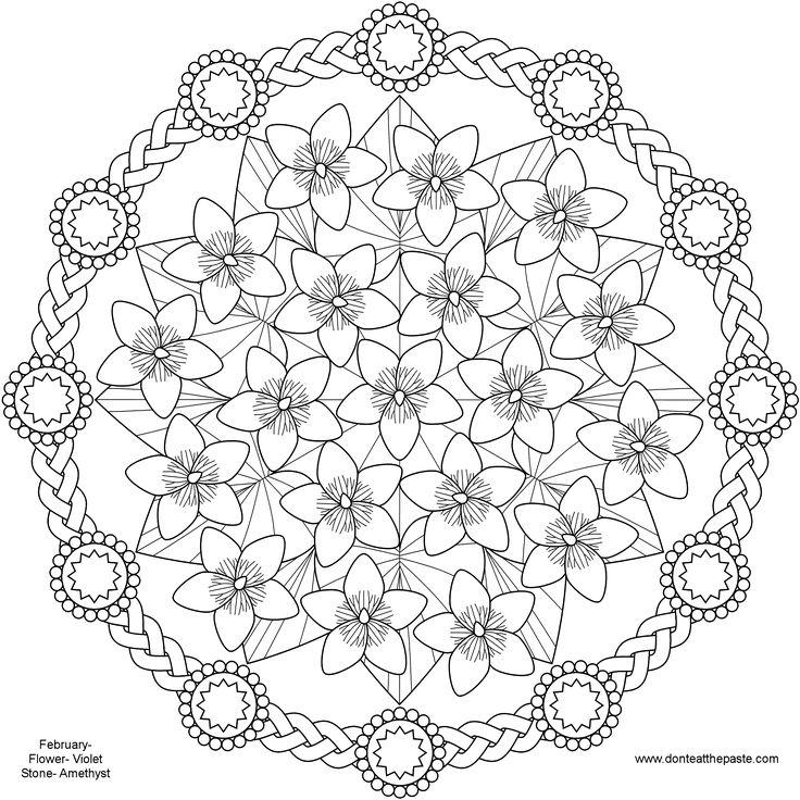 spring flower mandala coloring pages pattern mandala free printable